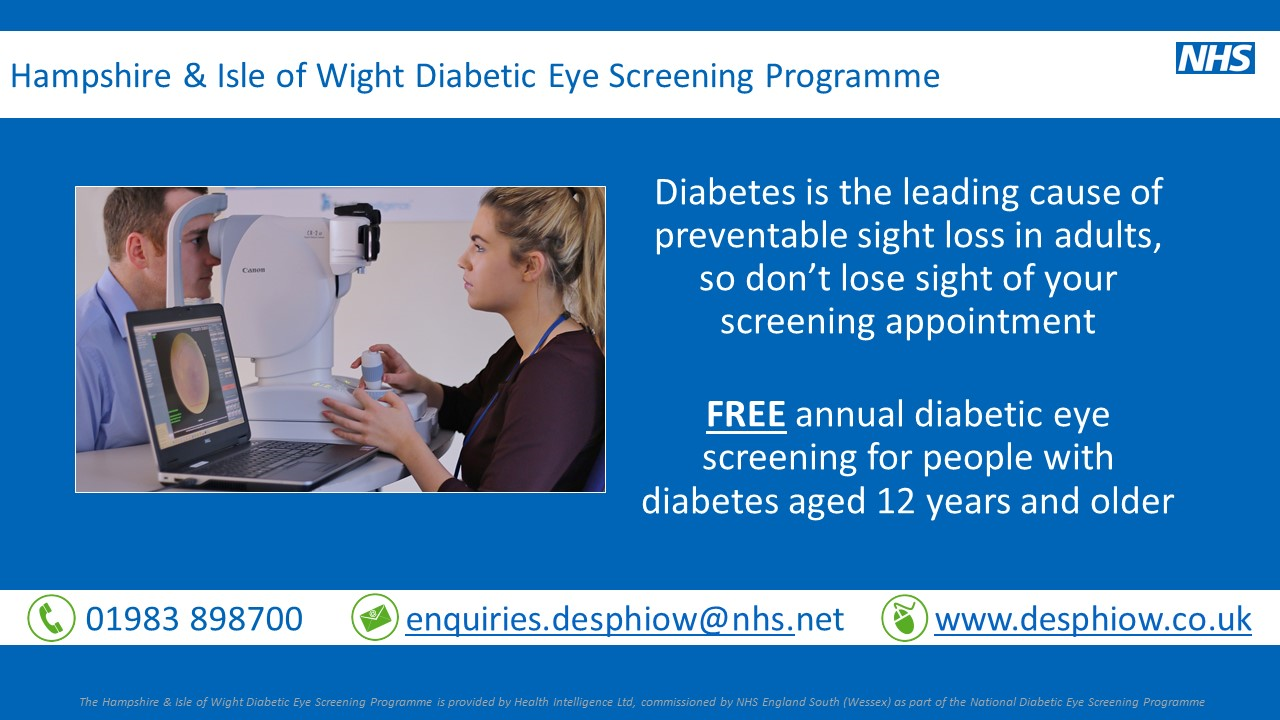 Hampshire and Isle of Wight Diabetic Eye Screening Programme